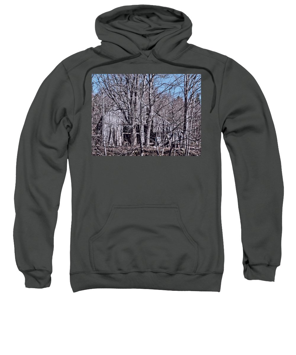 Old Barn Sweatshirt featuring the photograph Old Barn by Kathleen Sartoris