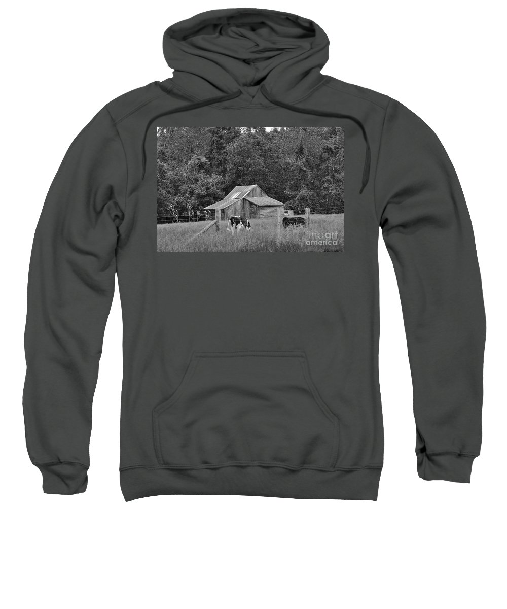 Barn Sweatshirt featuring the photograph Old Barn by Todd Hostetter