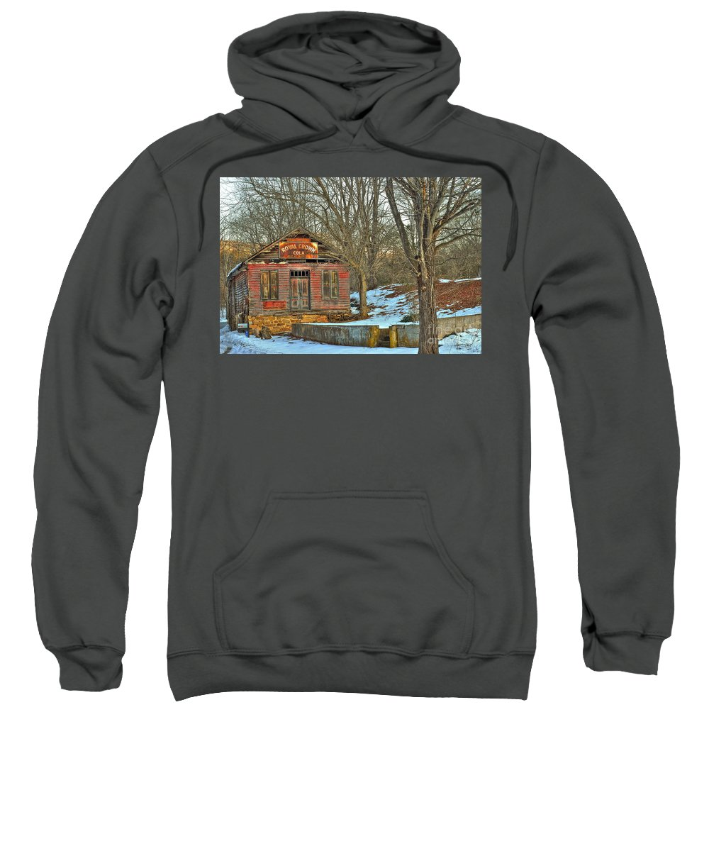 Rockbridge County Sweatshirt featuring the photograph Old Building by Todd Hostetter
