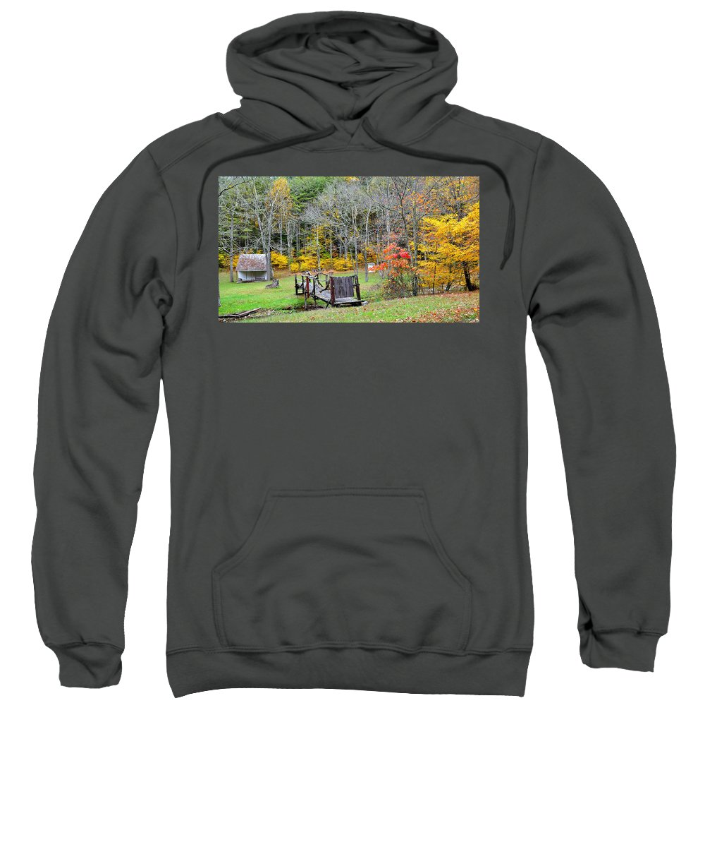 Old Sweatshirt featuring the photograph Old Cabin by Todd Hostetter