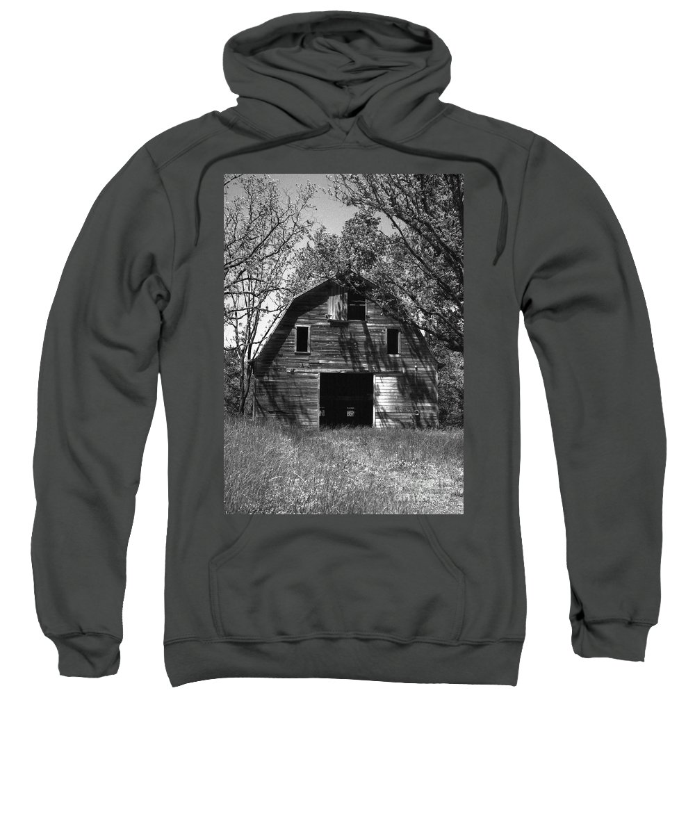 Barrns Sweatshirt featuring the photograph Old Cedar Barn by Richard Rizzo