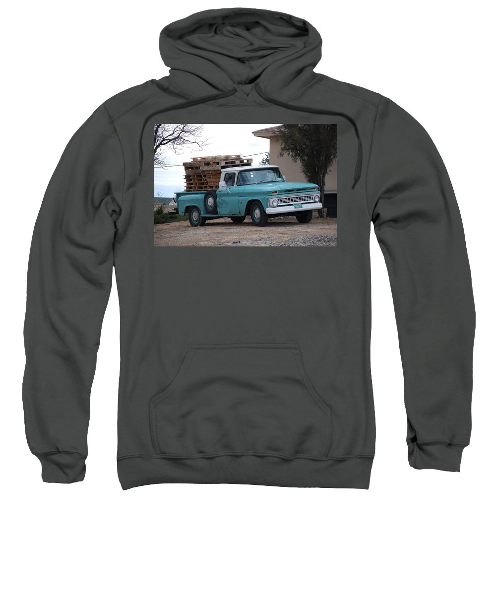 Old Truck Sweatshirt featuring the photograph Old Chevy by Rob Hans