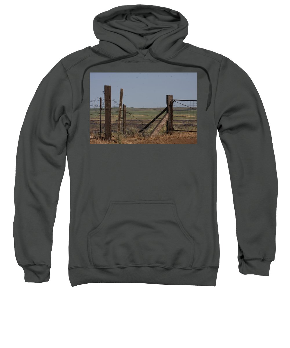 Columbia Gorge Sweatshirt featuring the photograph Old Days by Michael Selker