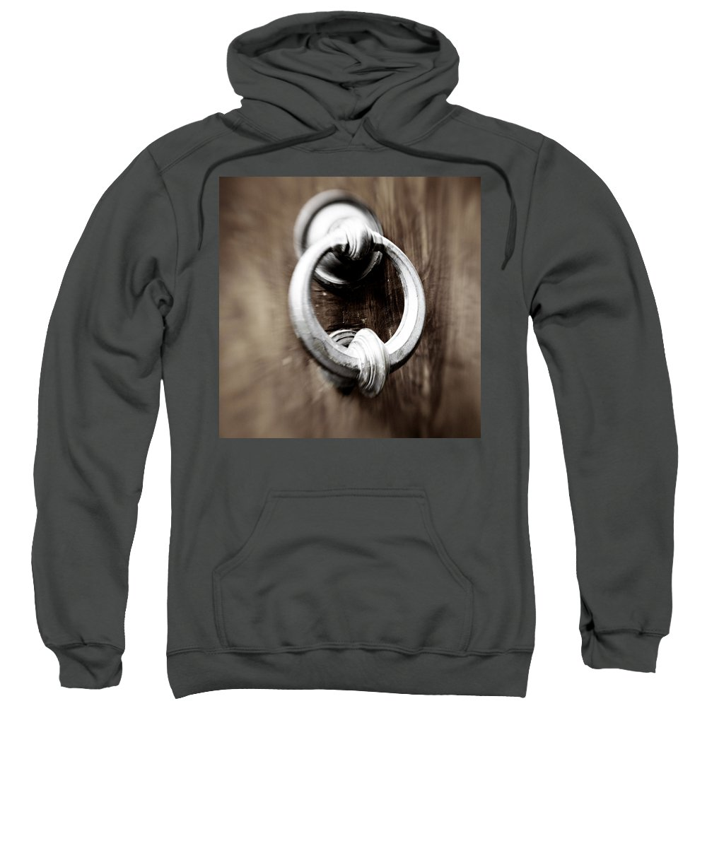 Home Sweatshirt featuring the photograph old Door Knocker by Marilyn Hunt