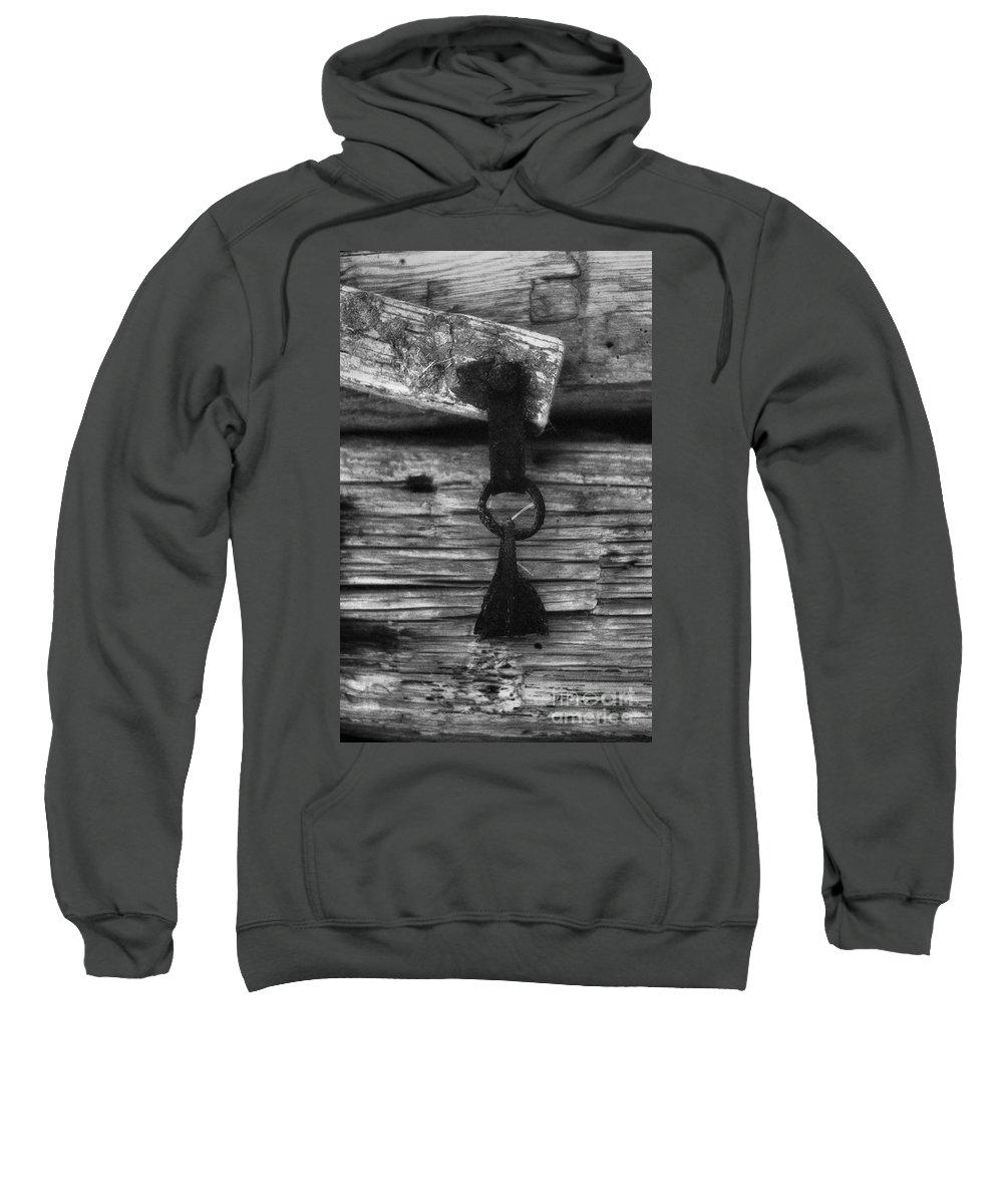 Doors Sweatshirt featuring the photograph Old Door Latch by Richard Rizzo