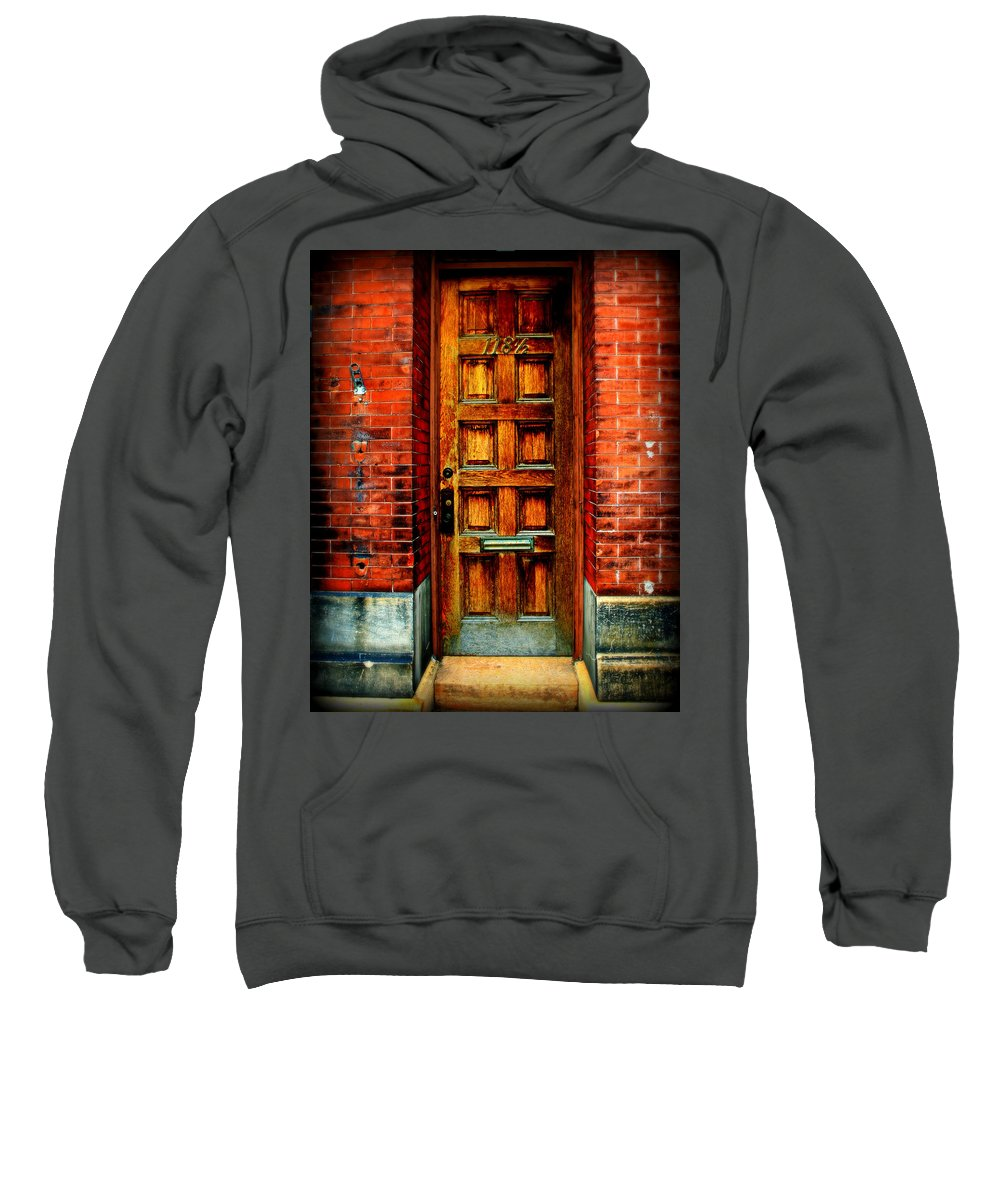 Brick Sweatshirt featuring the photograph Old Door by Perry Webster
