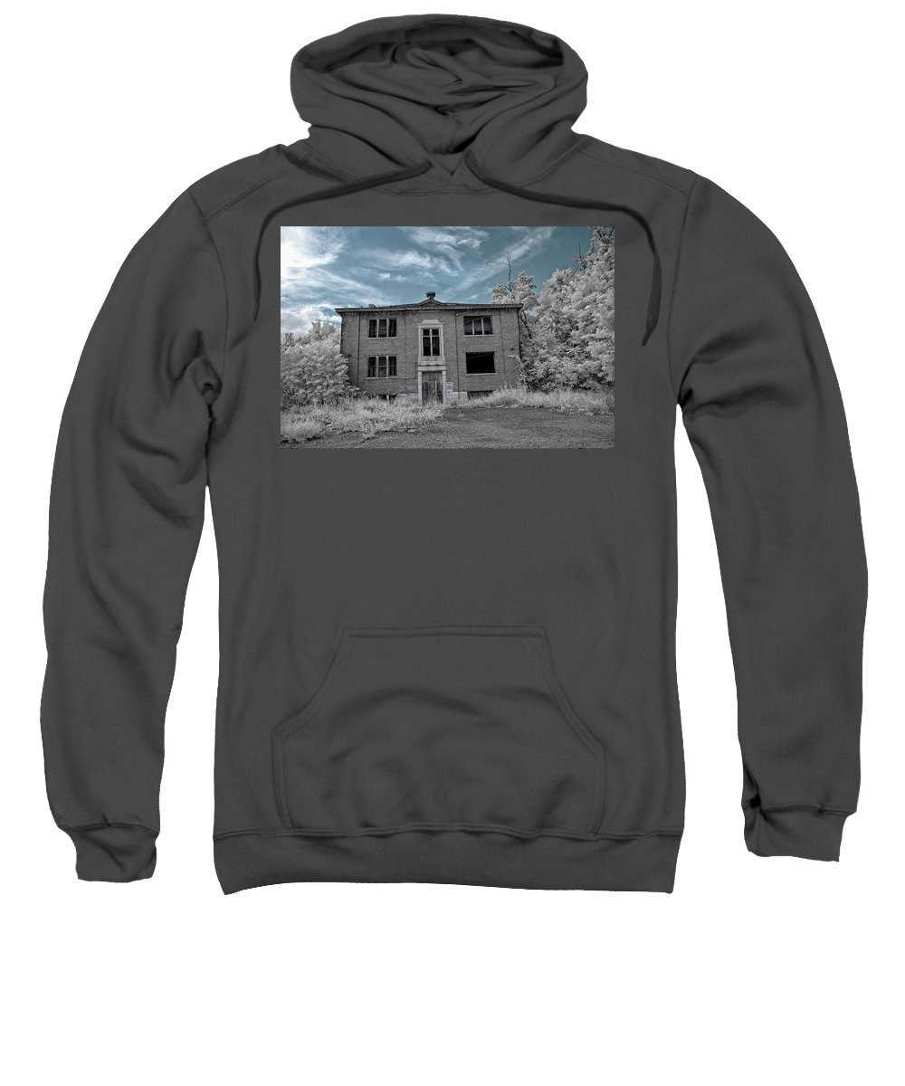 Old Sweatshirt featuring the photograph Old Edmonton High School Ir 2 by Amber Flowers