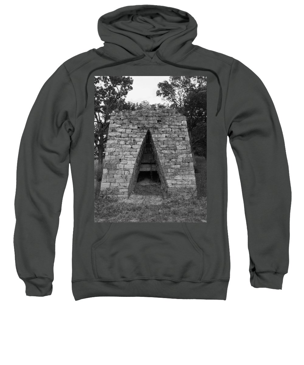 Furnace Sweatshirt featuring the photograph Old Furnace by Eric Liller