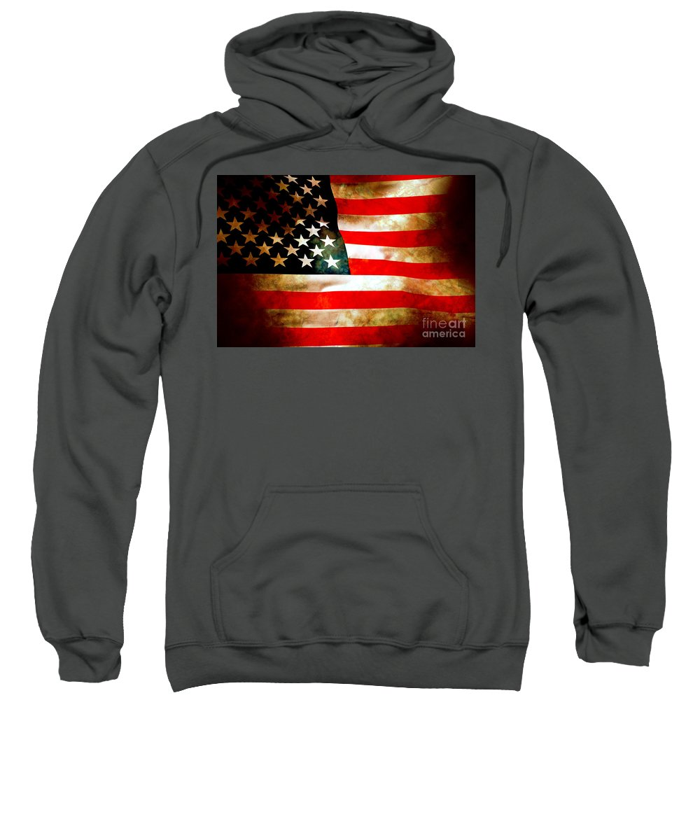 Flag Sweatshirt featuring the photograph Old Glory Patriot Flag by Phill Petrovic