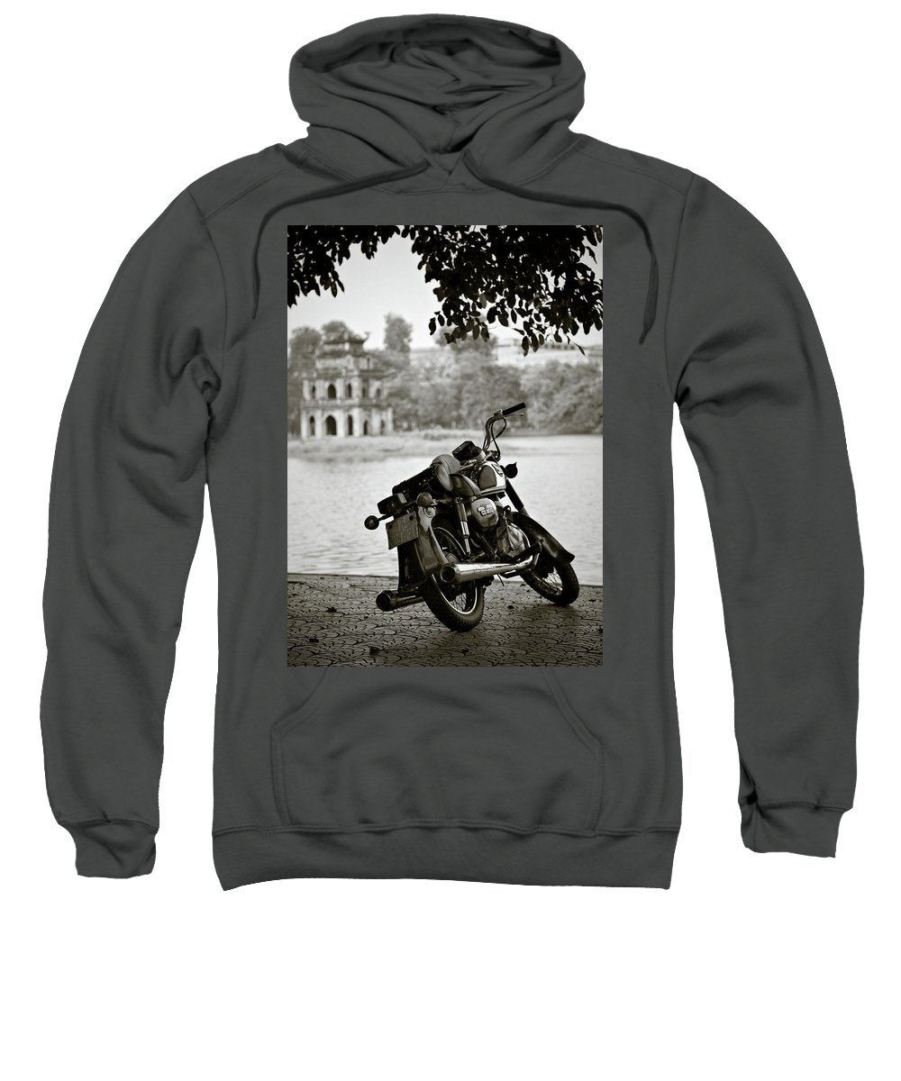 Honda Sweatshirt featuring the photograph Old Honda In Hanoi by Dave Bowman