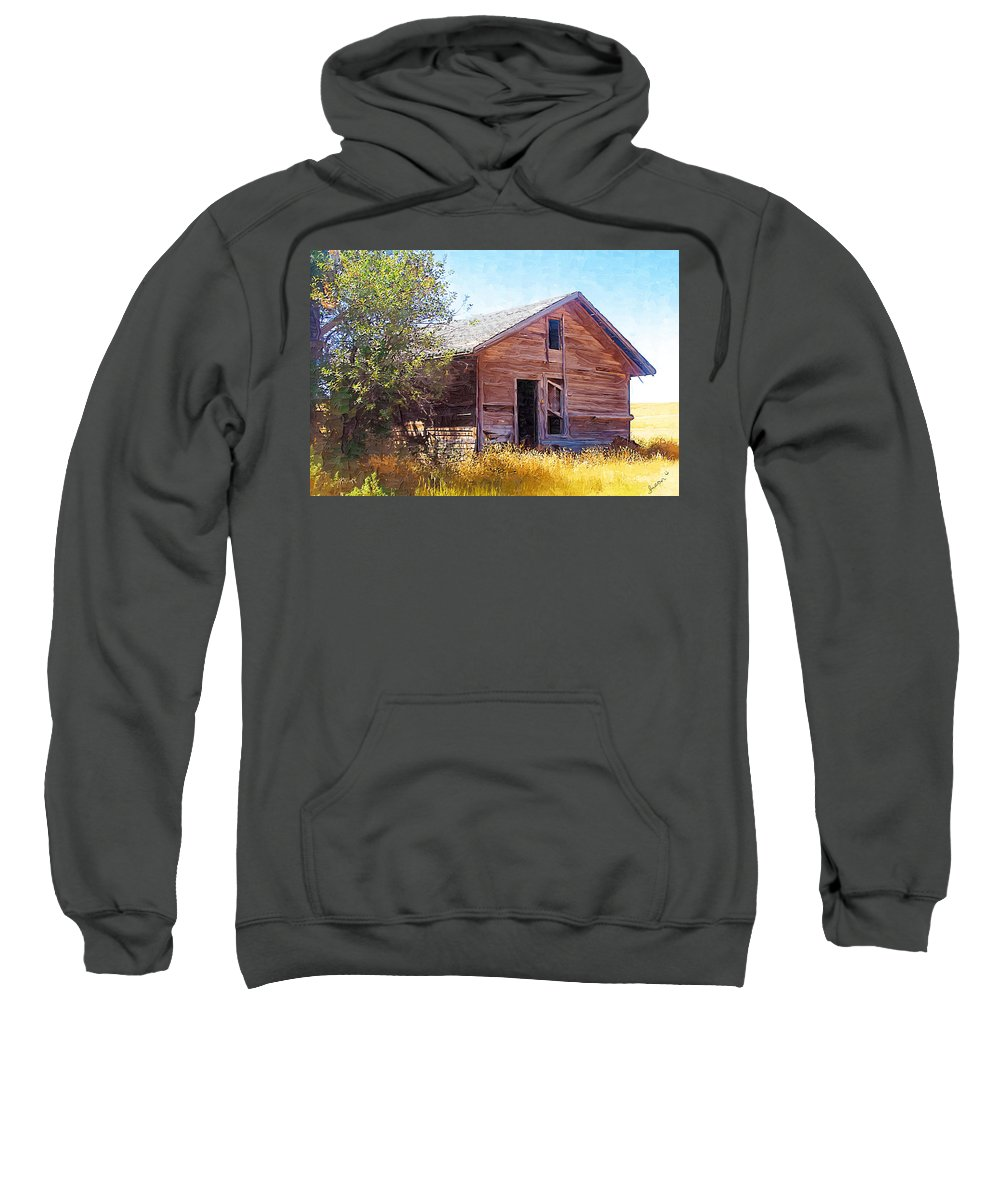 Floweree Montana Sweatshirt featuring the photograph Old House by Susan Kinney