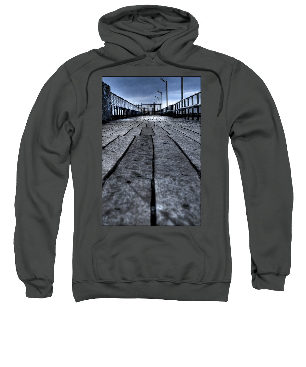 Jetty Sweatshirt featuring the photograph Old Jetty 2 by Kelly Jade King