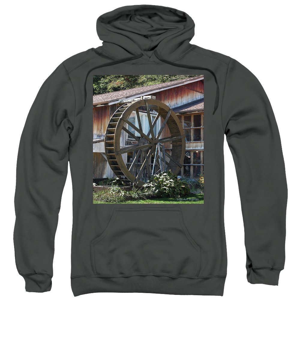 Water Sweatshirt featuring the digital art Old Mill Store Entry To Caverns by DigiArt Diaries by Vicky B Fuller