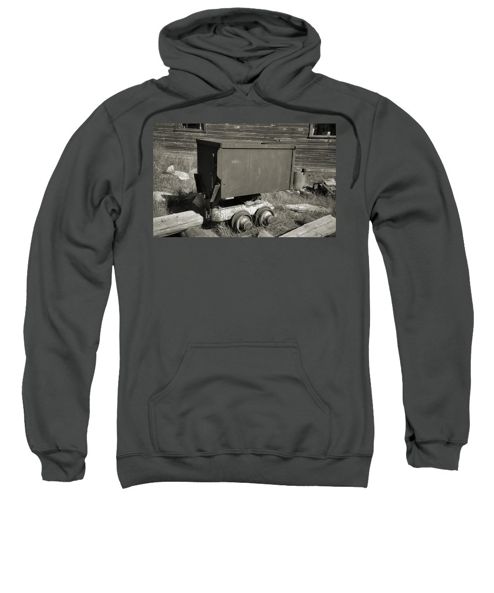 Ore Cart Sweatshirt featuring the photograph Old Mining Cart by Richard Rizzo