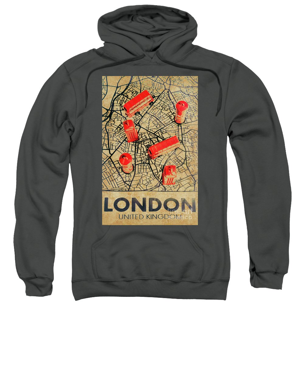 United Kingdom Sweatshirt featuring the photograph Old Routemaster Way by Jorgo Photography - Wall Art Gallery