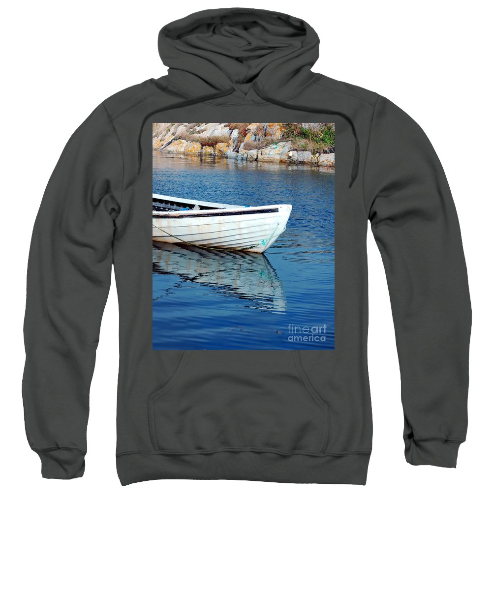 Old Sweatshirt featuring the photograph Old Row Boat by Kathleen Struckle