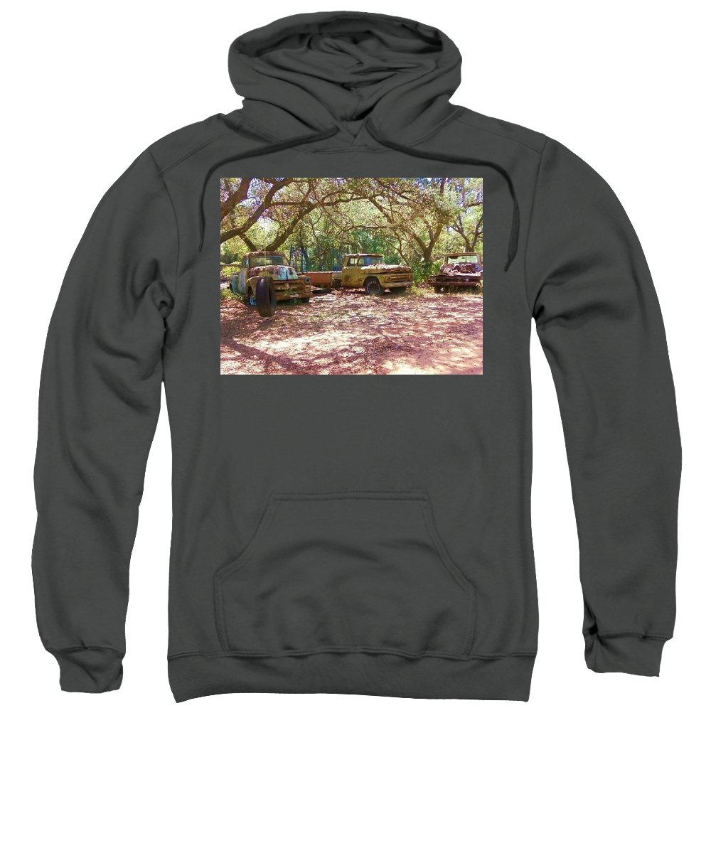 Trucks Sweatshirt featuring the photograph Old Time Trucks by Michelle Powell