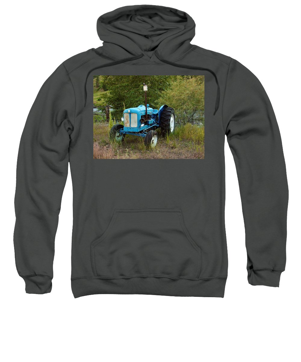 Tractor Sweatshirt featuring the photograph Old Tractor 3 by Sara Stevenson