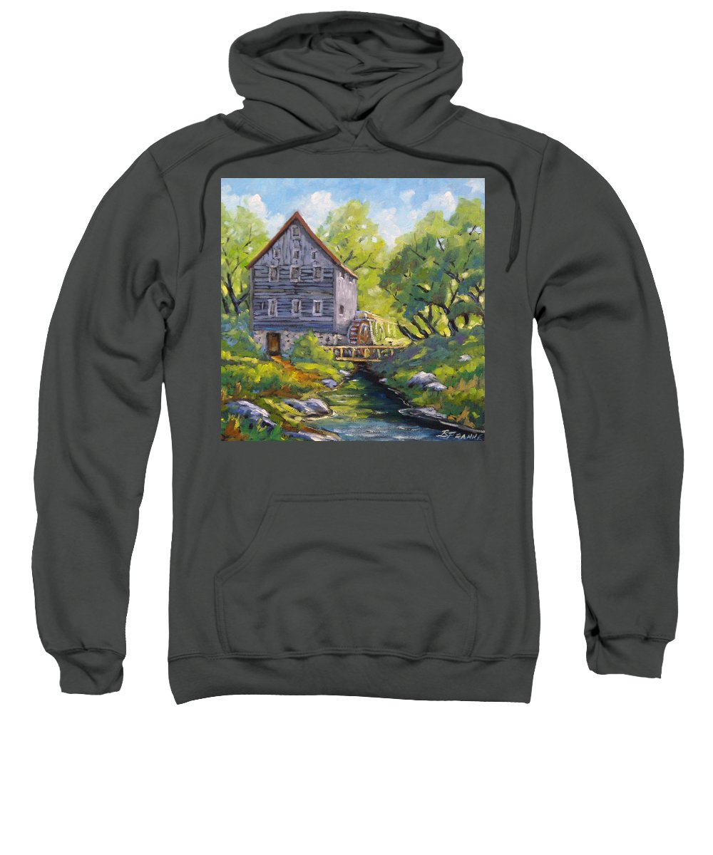 Art Sweatshirt featuring the painting Old Watermill by Richard T Pranke