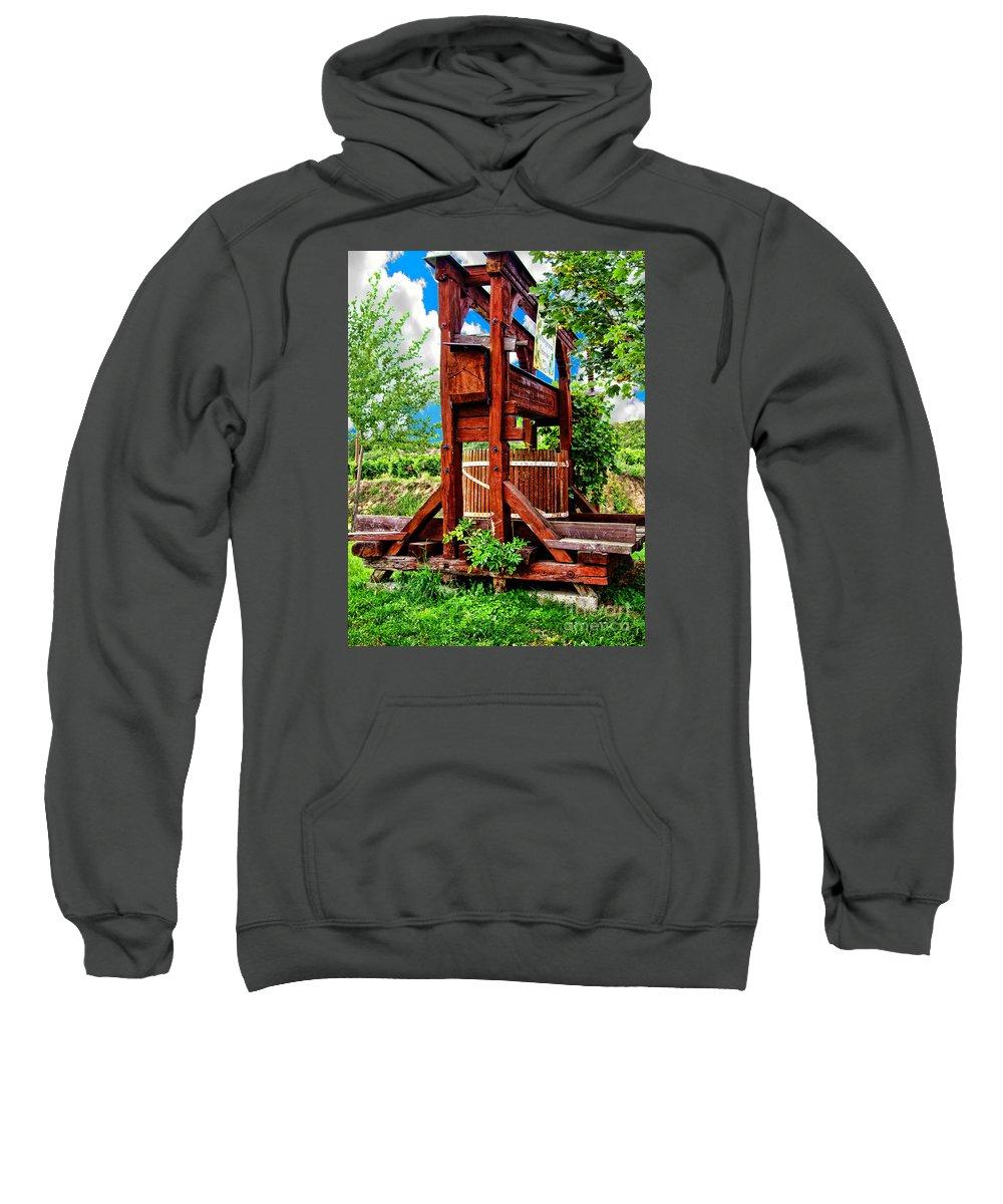 Mariola Bitner Sweatshirt featuring the photograph Old Wine Press by Mariola Bitner