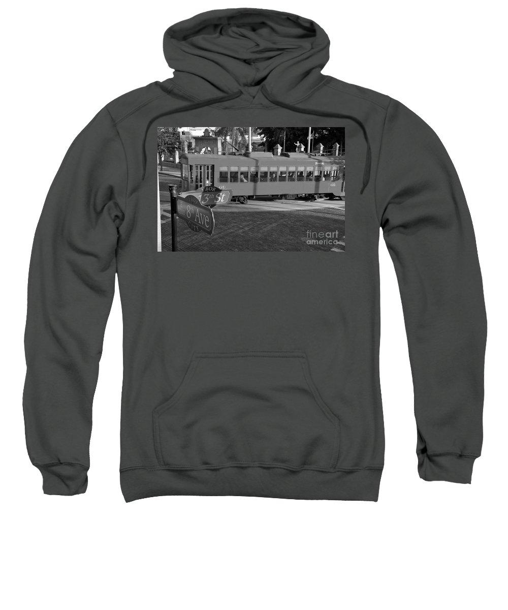 Ybor City Florida Sweatshirt featuring the photograph Old Ybor City Trolley by David Lee Thompson
