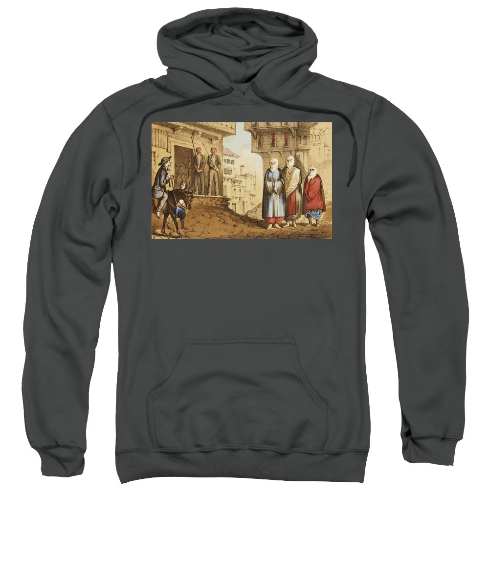 Beautiful Sweatshirt featuring the painting Oldmixon, John Gleanings From Piccadilly To Pera. by John GLEANINGS