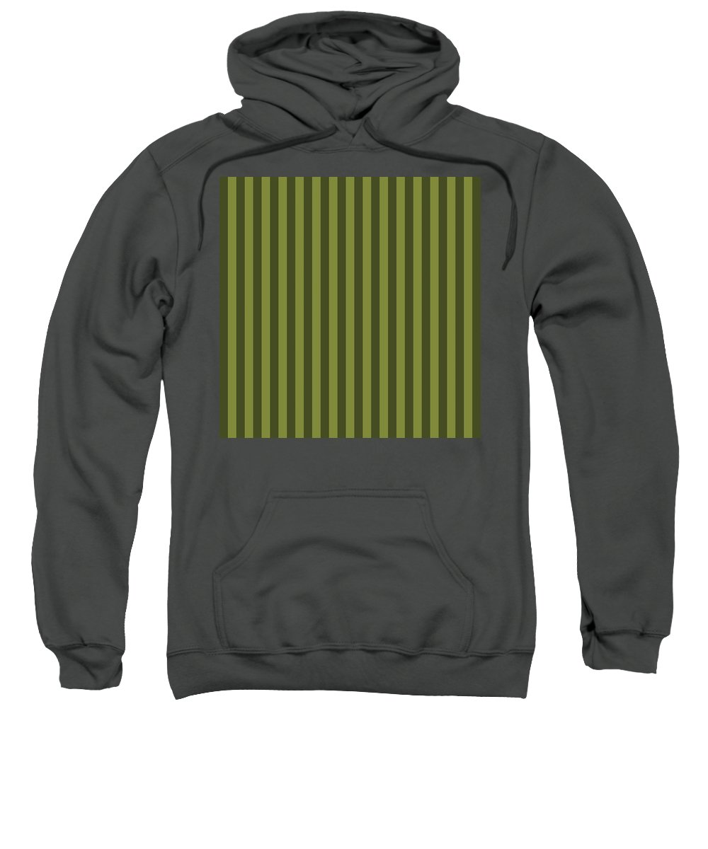 Olive Sweatshirt featuring the digital art Olive Green Striped Pattern Design by Ross