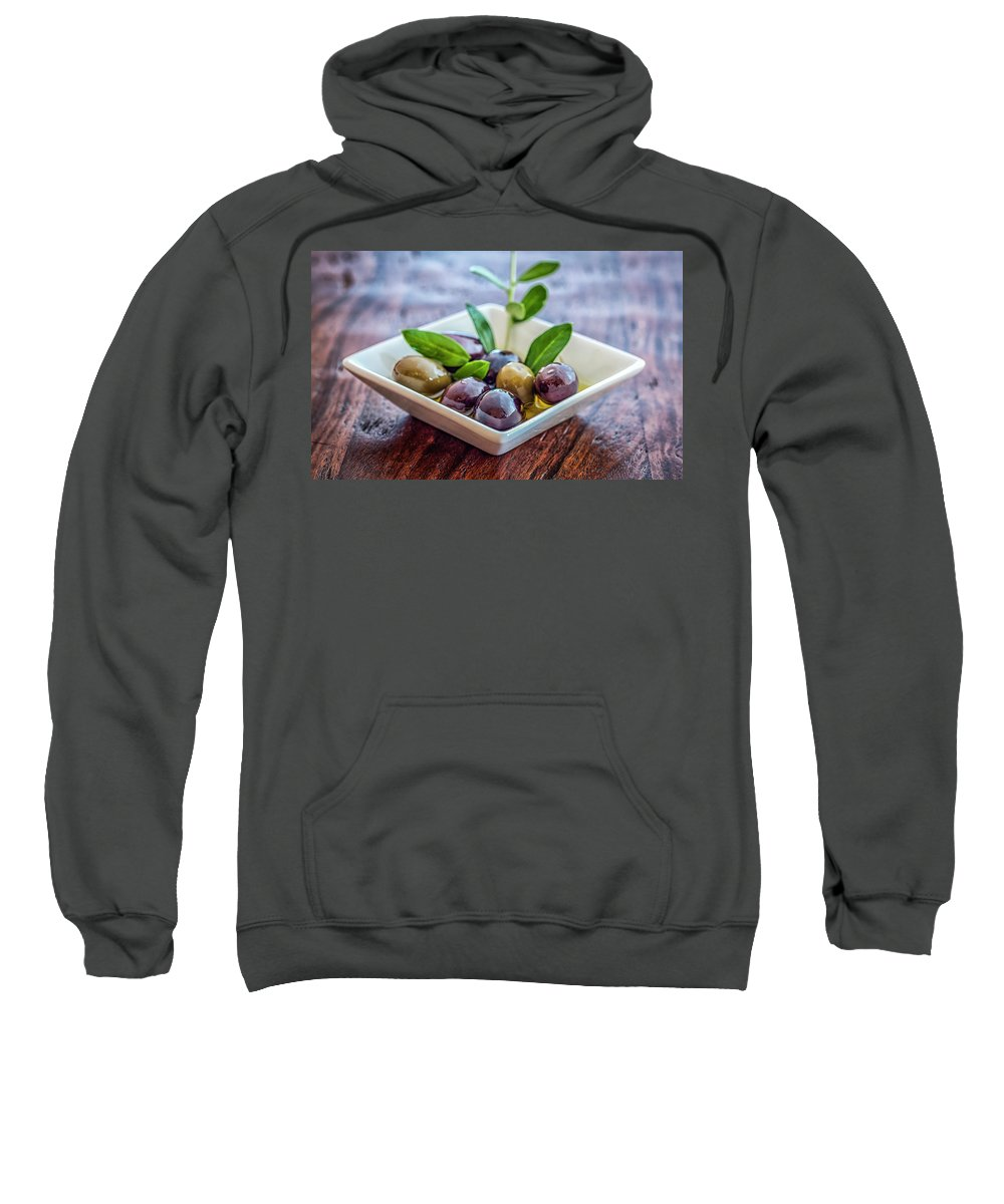 Olives Sweatshirt featuring the photograph Olives by Marianne Donahoe