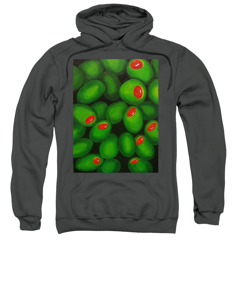 Olive Sweatshirt featuring the painting Olives by Micah Guenther