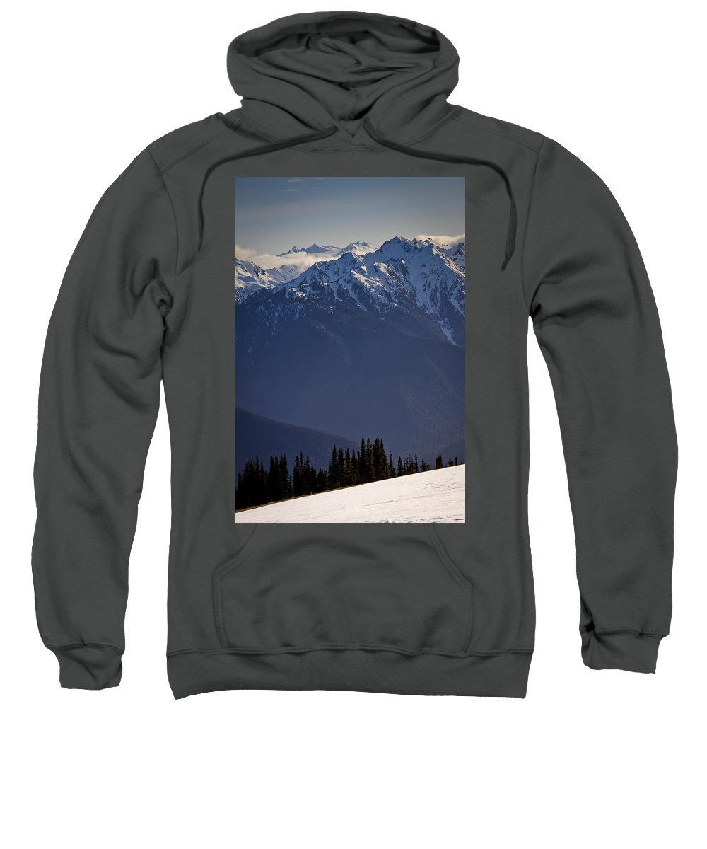 Olympic Mountains Sweatshirt featuring the photograph Olympic National Park by Albert Seger