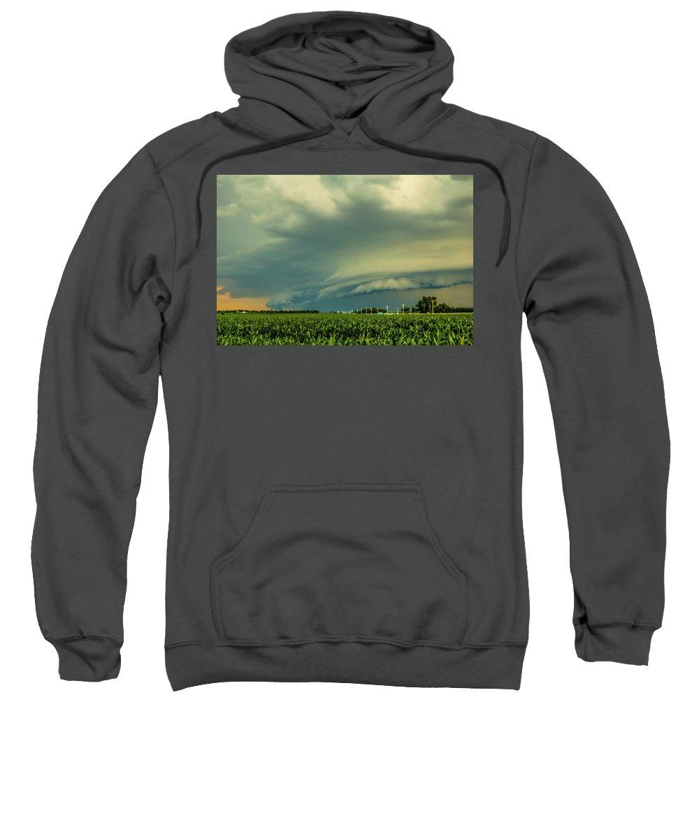 Nebraskasc Sweatshirt featuring the photograph Ominous Nebraska Outflow 001 by NebraskaSC