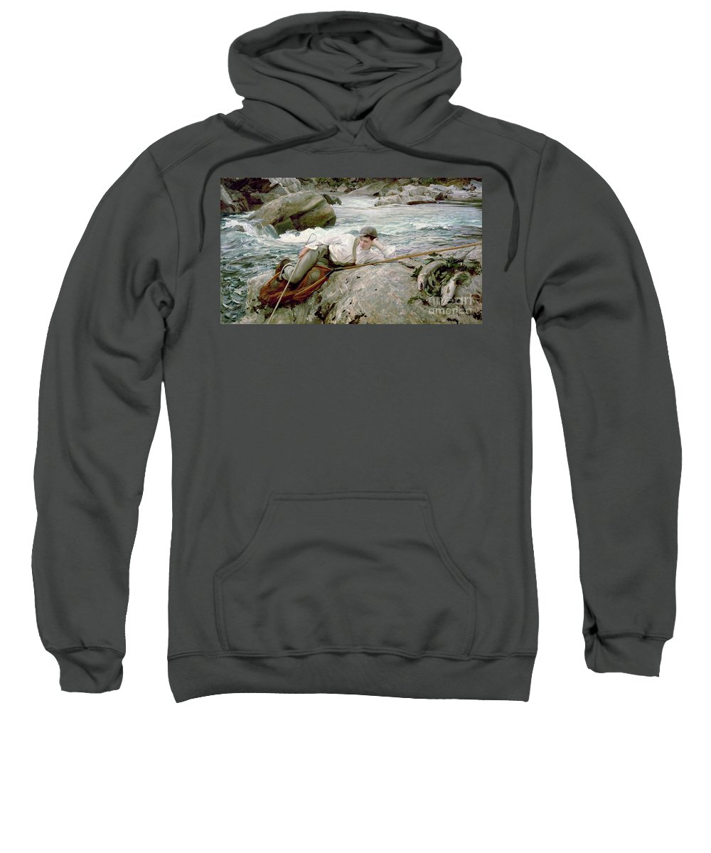 On His Holidays Sweatshirt featuring the painting On His Holidays by John Singer Sargent