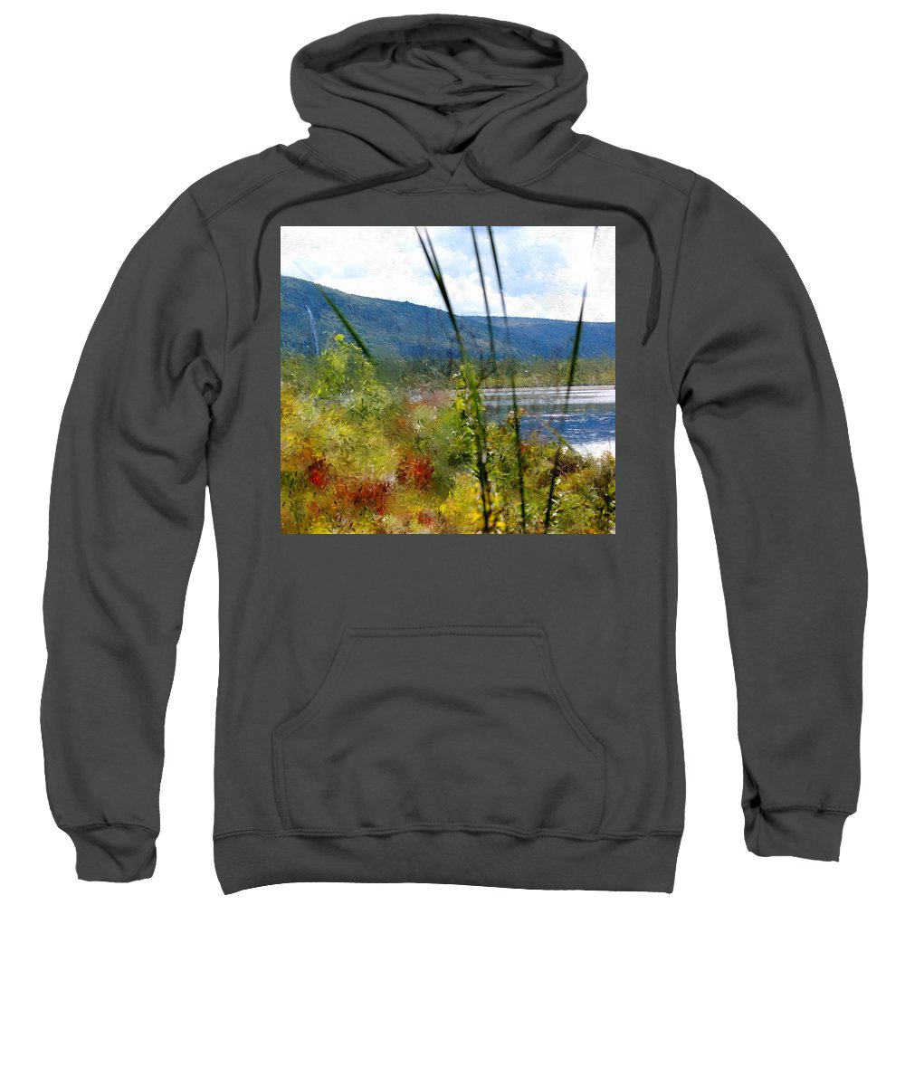 Digital Photograph Sweatshirt featuring the photograph On The Edge Of Reality by David Lane
