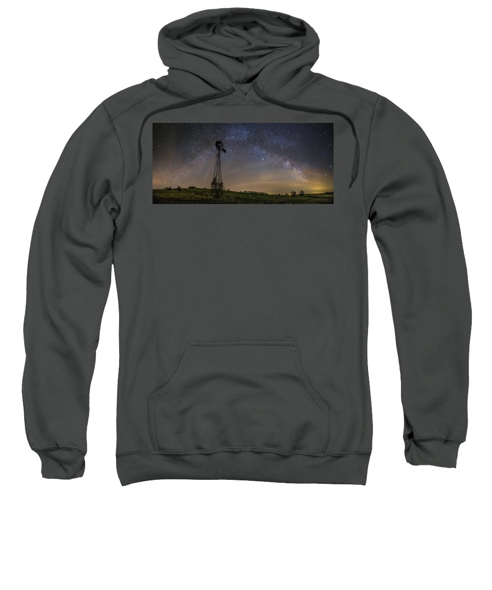 Windmill Sweatshirt featuring the photograph On The Farm by Aaron J Groen