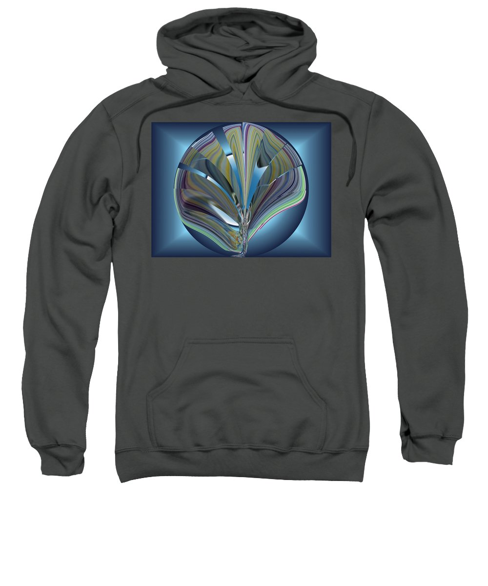 Abstract Sweatshirt featuring the digital art On The Half Shell by Tim Allen