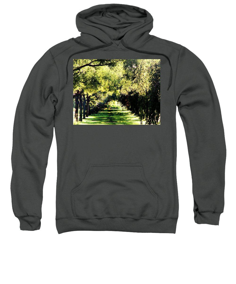 Philadelphia Sweatshirt featuring the photograph On The Path by Bill Cannon