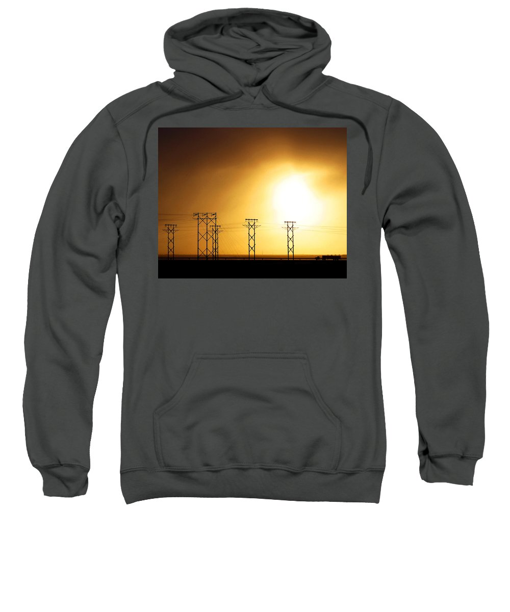 Truck Sweatshirt featuring the photograph On The Road by Anthony Jones