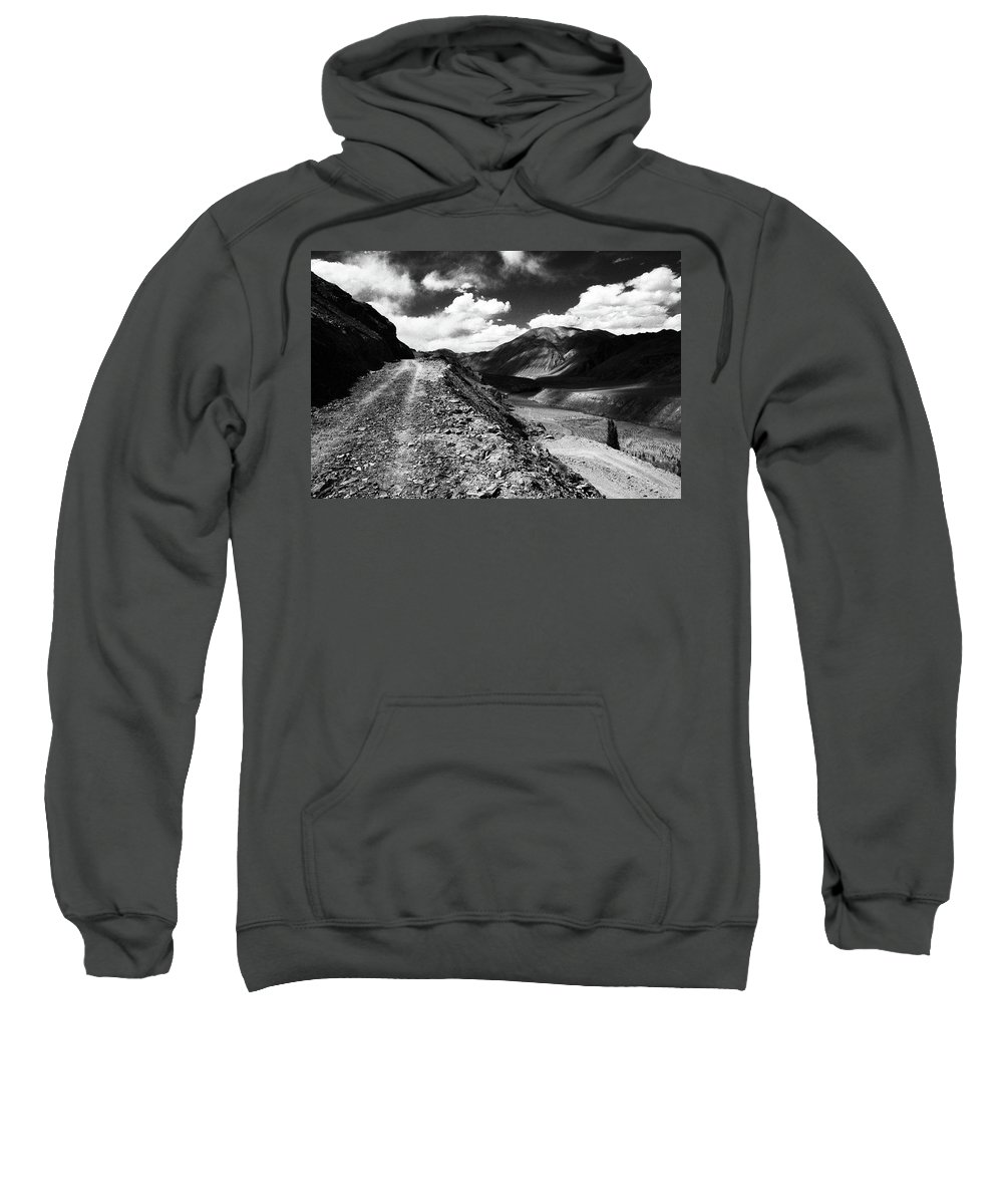 Ladakh Sweatshirt featuring the photograph On The Road by Patrick Klauss