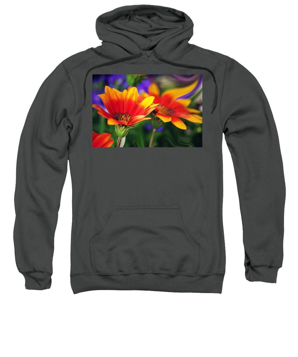 Flowers Sweatshirt featuring the photograph On The Sunny Side... by Arthur Miller