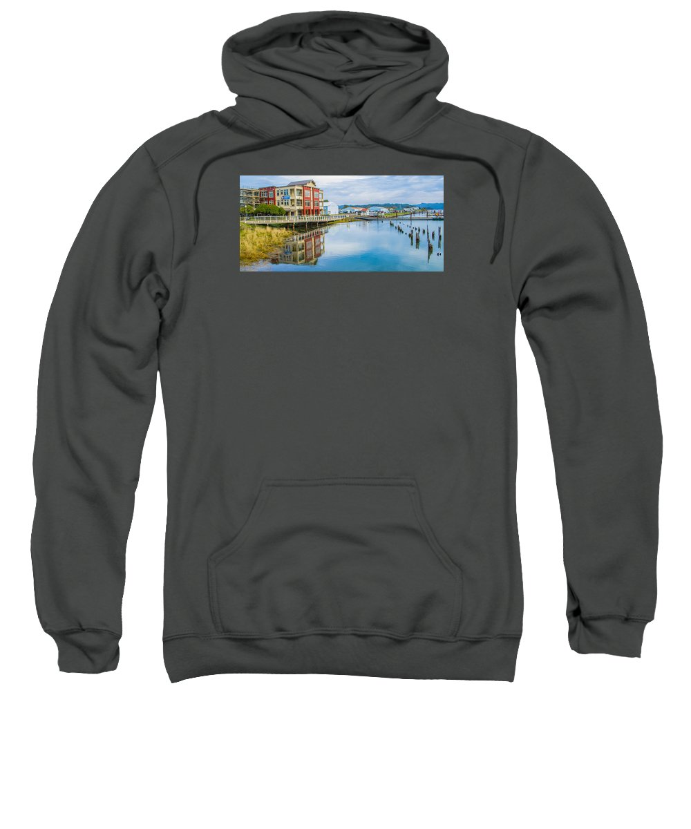 Waterfront Sweatshirt featuring the photograph On The Waterfront by Janna Saltmarsh