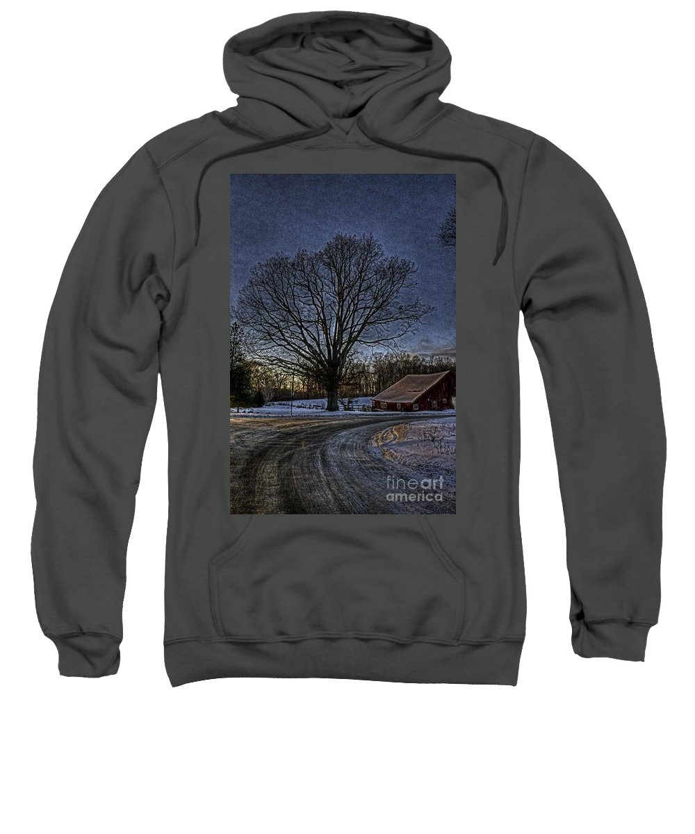 Country Sweatshirt featuring the photograph On The Way Home Hdr by September Stone