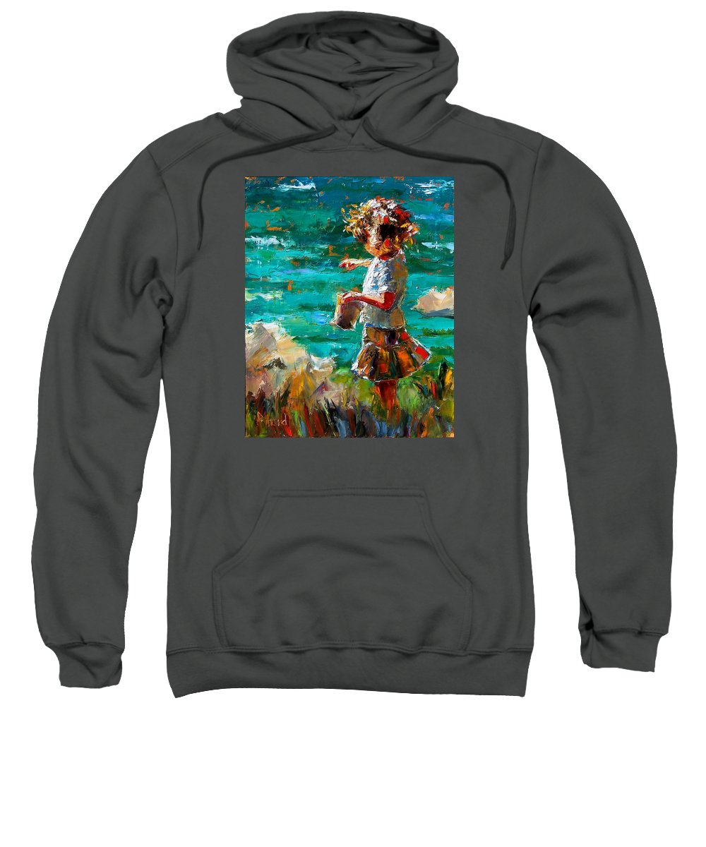 Children Sweatshirt featuring the painting One At A Time by Debra Hurd
