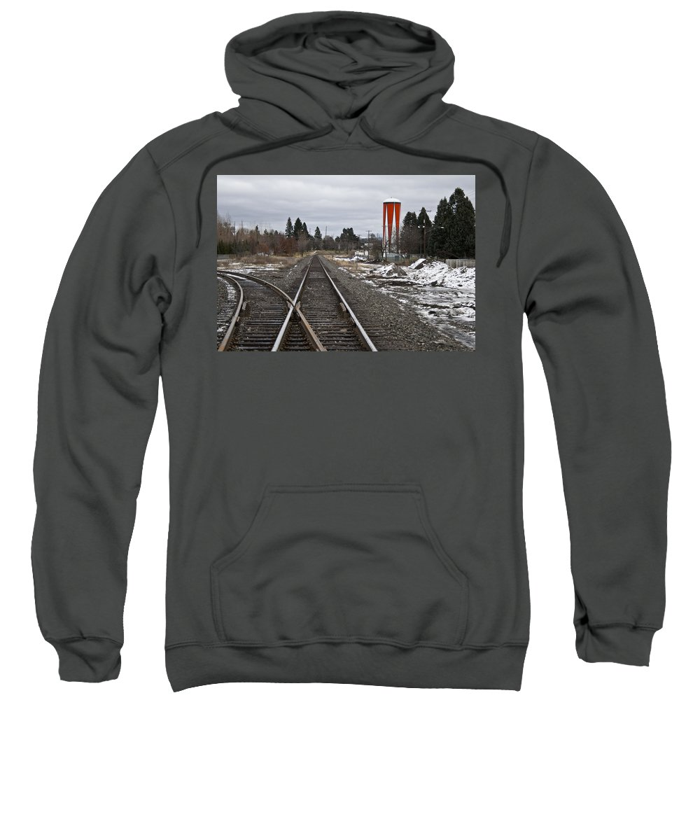 Monotone Sweatshirt featuring the photograph One Drop Of Color 4 by Angus Hooper Iii