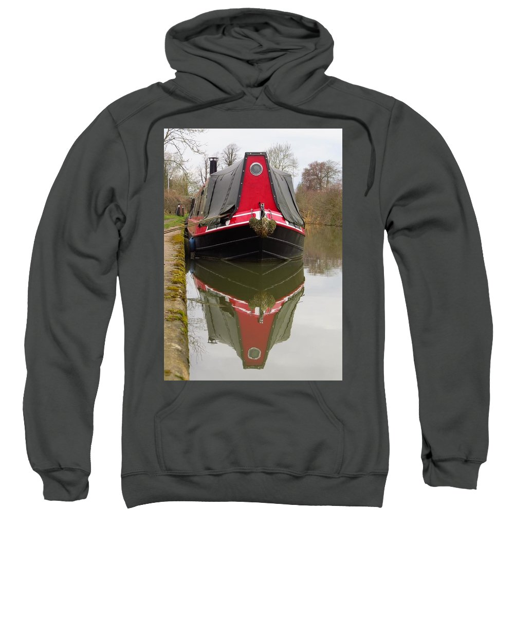 Boat Sweatshirt featuring the photograph One Eyed Boat by Francesca Morini