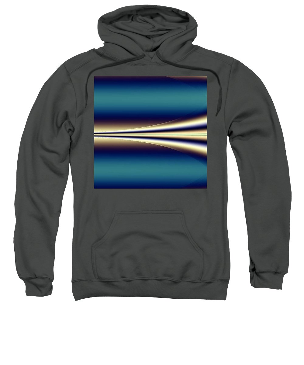 Digital Art Sweatshirt featuring the digital art One Way II by Dragica Micki Fortuna