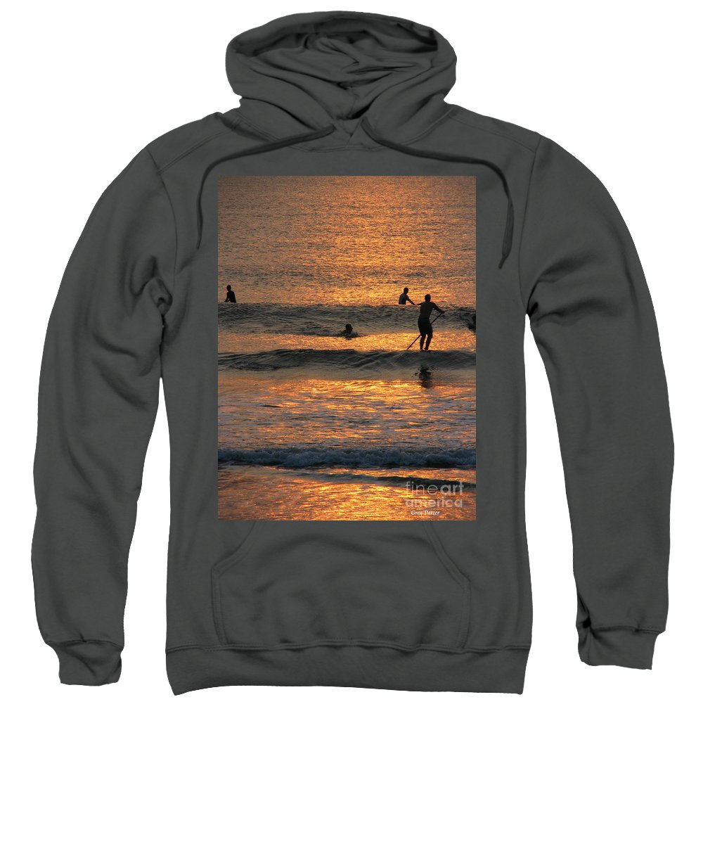 Art For The Wall...patzer Photography Sweatshirt featuring the photograph One With Nature by Greg Patzer