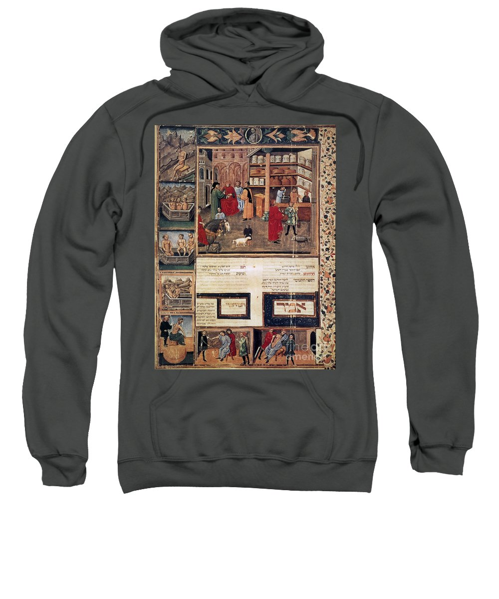 1440 Sweatshirt featuring the photograph Open-air Pharmacy by Granger