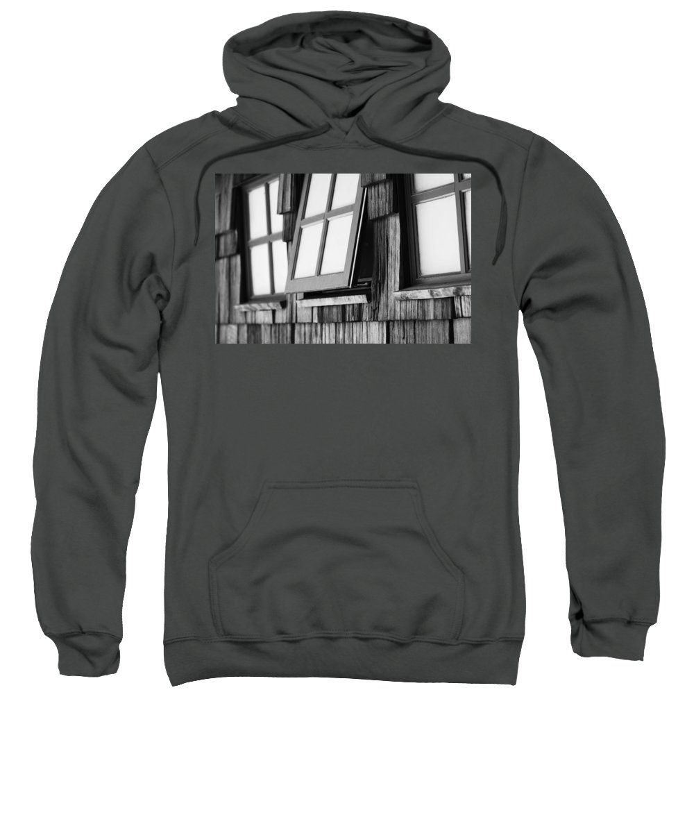 Black And White Sweatshirt featuring the photograph Open Black And White by Jill Reger