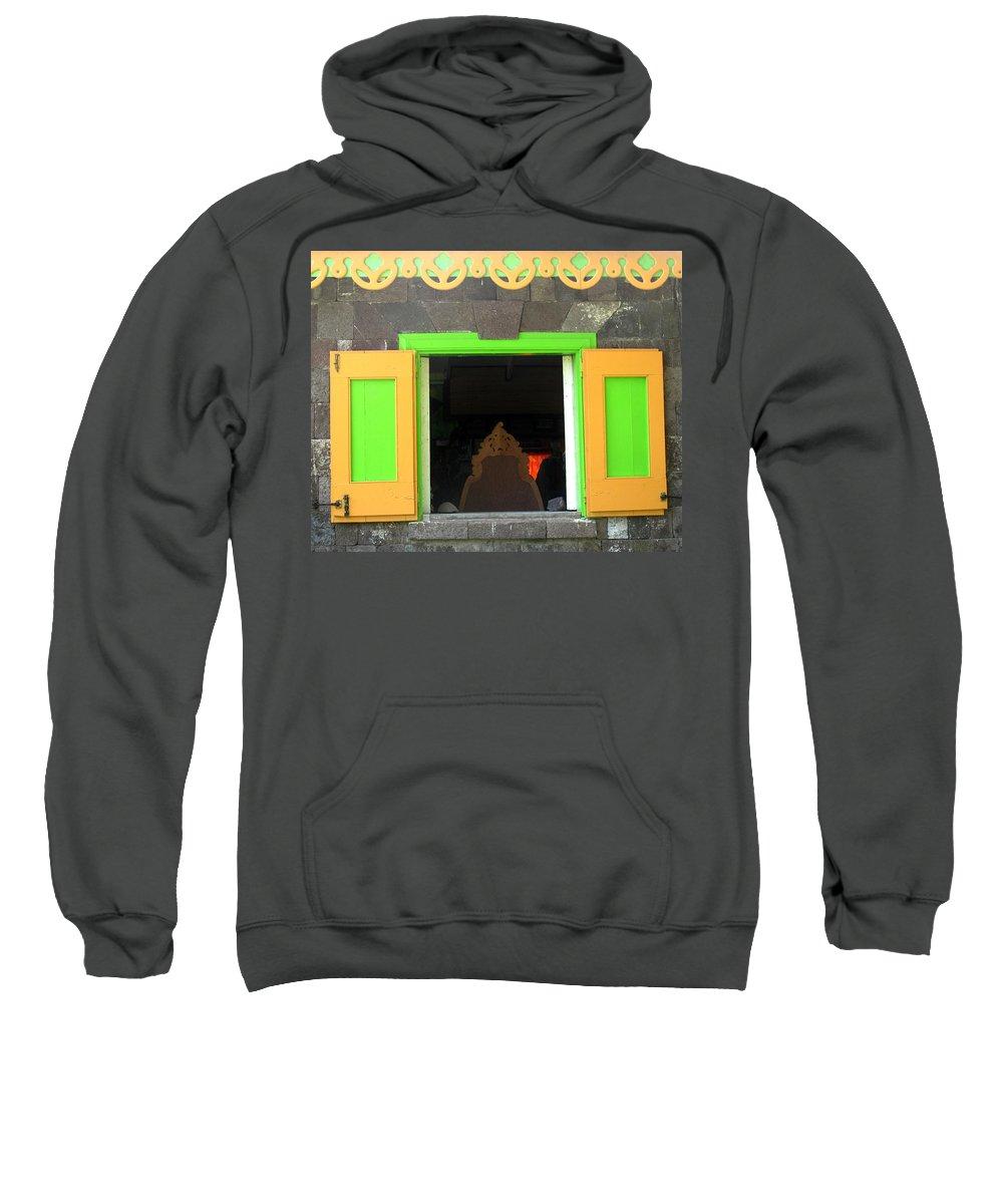 Window Sweatshirt featuring the photograph Open Window by Ian MacDonald