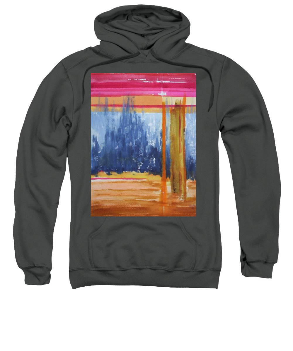 Landscape Sweatshirt featuring the painting Opening by Suzanne Udell Levinger